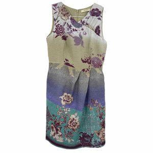 ETRO Floral Wool Sleeveless Sheath Dress